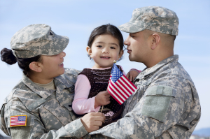 2014.10.15 Military couple and child iStock